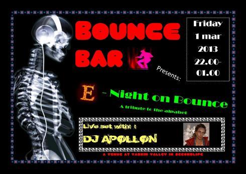 Bounce Bar Logo - 20130301 - E-night on Bounce