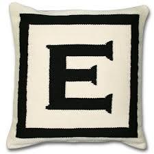 E letter pillow
