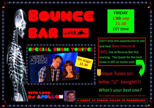 Bounce Bar - 20130913 - U night - Bara & Free  - Bounce Bar