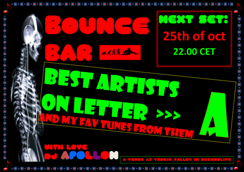 Bounce Bar - 20131025 - Artists on A